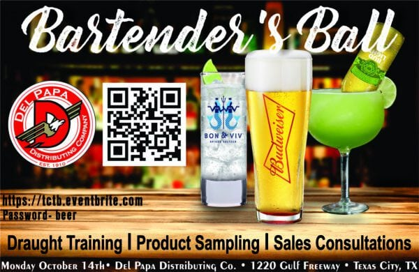Texas City Bartender's Ball @ Del Papa Distributing